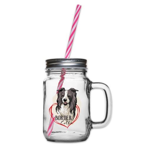 Border Collie - Henkelglas mit Schraubdeckel