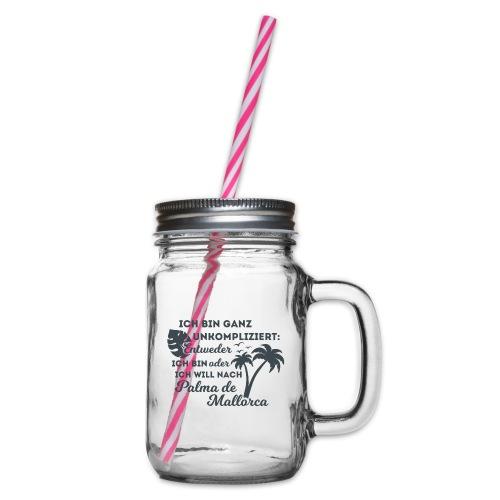 Palma de Mallorca - Geschenk - Geschenkidee - Henkelglas mit Schraubdeckel