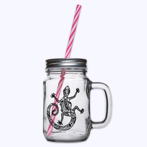Gecko-sw - Henkelglas mit Schraubdeckel