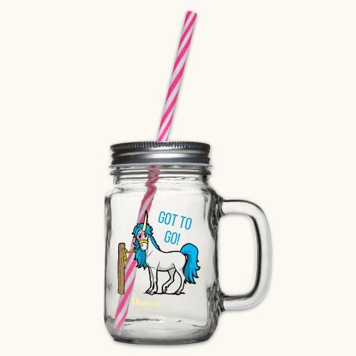 Dessin drôle de licorne disant bande dessinée cadeau - Bocal à boisson