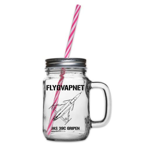 FLYGVAPNET - JAS 39C - Glas med handtag och skruvlock
