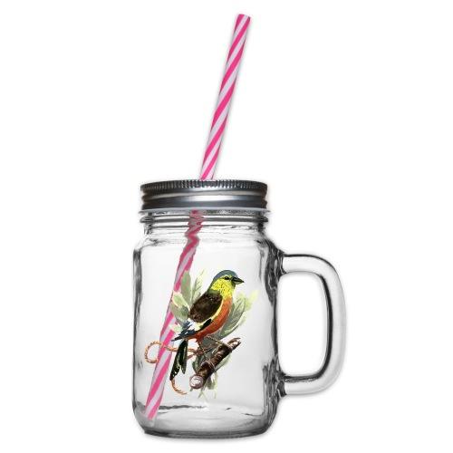 Meise - Henkelglas mit Schraubdeckel