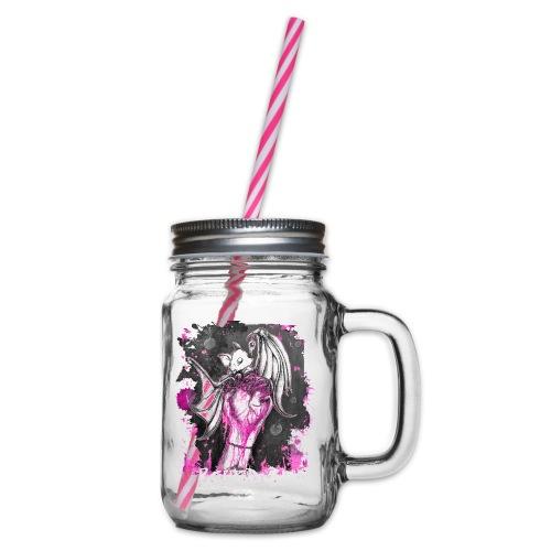 Seifenblasen Pink, von Absurd ART - Henkelglas mit Schraubdeckel