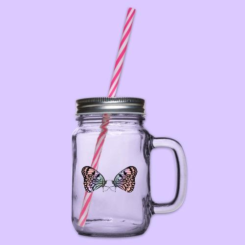 Schmetterlinge, Schmetterling, Insekt, Insekten - Henkelglas mit Schraubdeckel