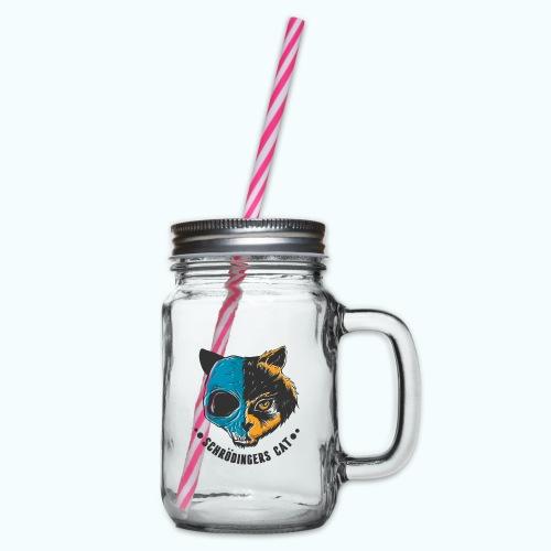 Schrödinger's Cat - Glass jar with handle and screw cap