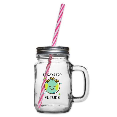 Fridays for Future LIGHT - Glass jar with handle and screw cap