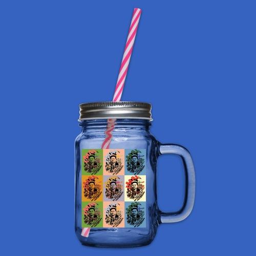 1. Mai DDR Pop Art - Henkelglas mit Schraubdeckel