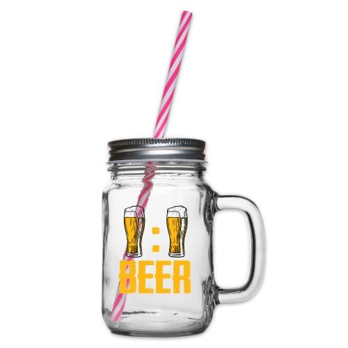 BEER O'Clock - Henkelglas mit Schraubdeckel