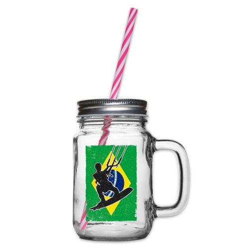 Kitesurfen - Brasilien - Henkelglas mit Schraubdeckel