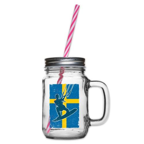 Kitesurfer Sweden - Henkelglas mit Schraubdeckel