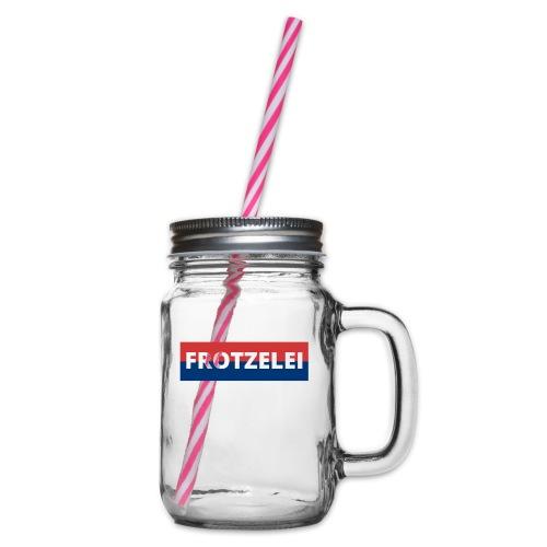 FROTZELEI - Polizeikontrolle Geschenk Autofahrer - Henkelglas mit Schraubdeckel
