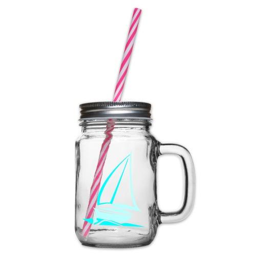 segelyacht - Henkelglas mit Schraubdeckel