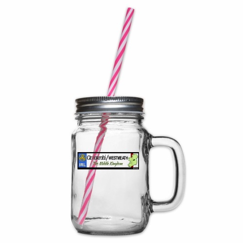 WESTMEATH, IRELAND: licence plate tag style decal - Glass jar with handle and screw cap