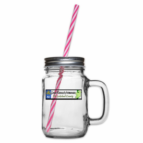 FERMANAGH, NORTHERN IRELAND licence plate tags eu - Glass jar with handle and screw cap