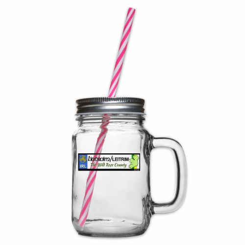 LEITRIM, IRELAND: licence plate tag style decal eu - Glass jar with handle and screw cap