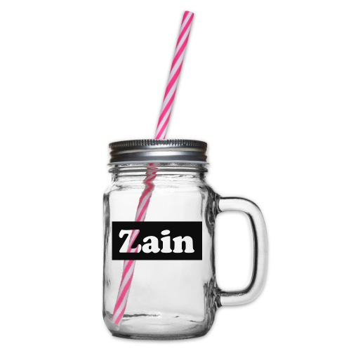Zain Clothing Line - Glass jar with handle and screw cap