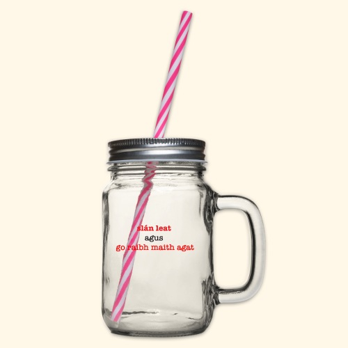 Good bye and thank you - Glass jar with handle and screw cap