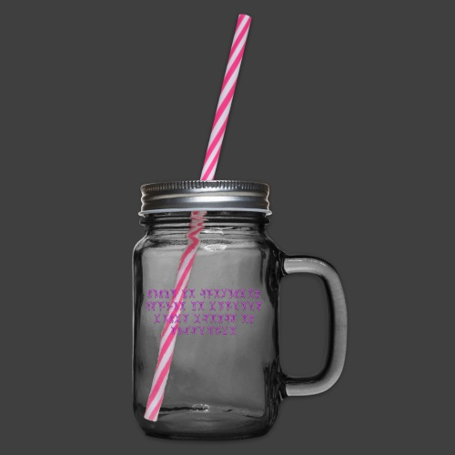 Never - Glass jar with handle and screw cap
