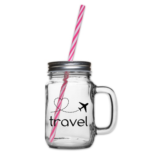 travel, naturelovers, google travel - Glass jar with handle and screw cap