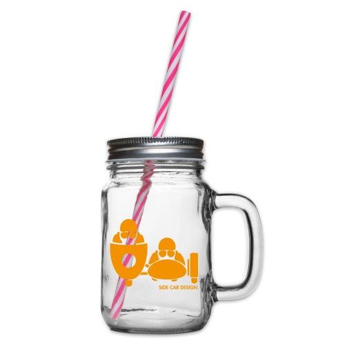 BASSET LOGO orange - Bocal à boisson