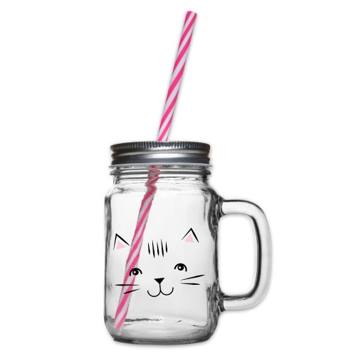 Kitty Cute Cat - Zensitivity - Drinkbeker met handvat en schroefdeksel