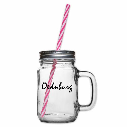 Oednburg Zwart - Drinkbeker met handvat en schroefdeksel