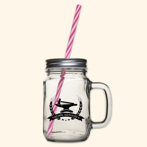 Smedöl Brygghus Logga Svart - Glas med handtag och skruvlock