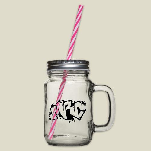 MRC throwup - Henkelglas mit Schraubdeckel