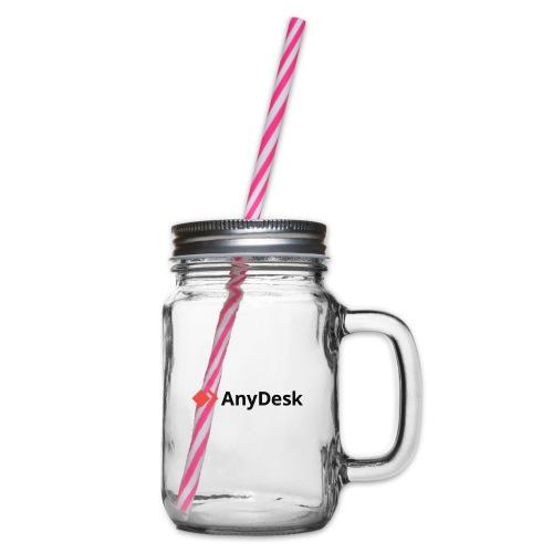 AnyDesk - logo black - Henkelglas mit Schraubdeckel