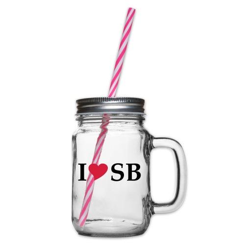 I Love SB Siebenbürgen Sibiu - Henkelglas mit Schraubdeckel