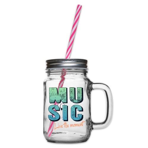 Music_live the moment - Henkelglas mit Schraubdeckel