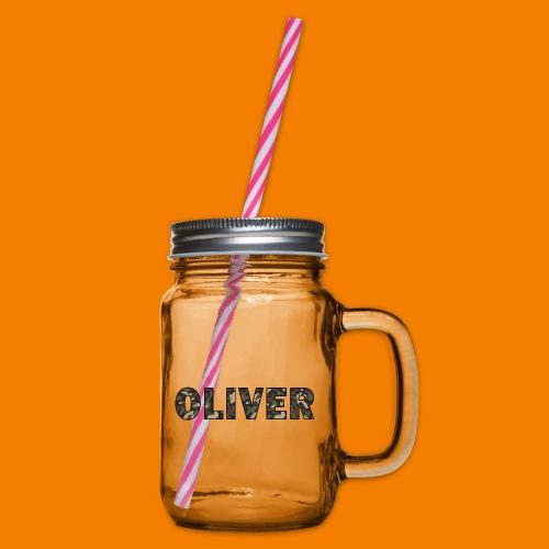 Oliver - Glas med handtag och skruvlock