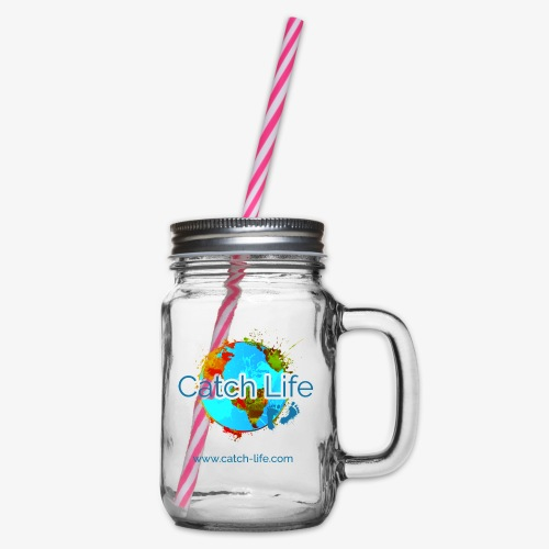Catch Life Color - Glass jar with handle and screw cap