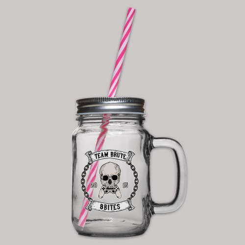 8 Bites MC - Glass jar with handle and screw cap