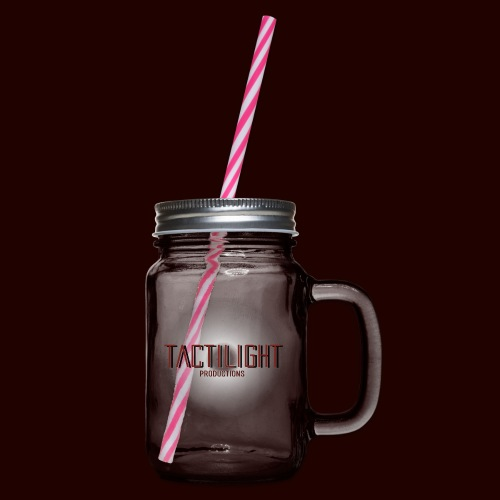 Tactilight Logo - Glass jar with handle and screw cap
