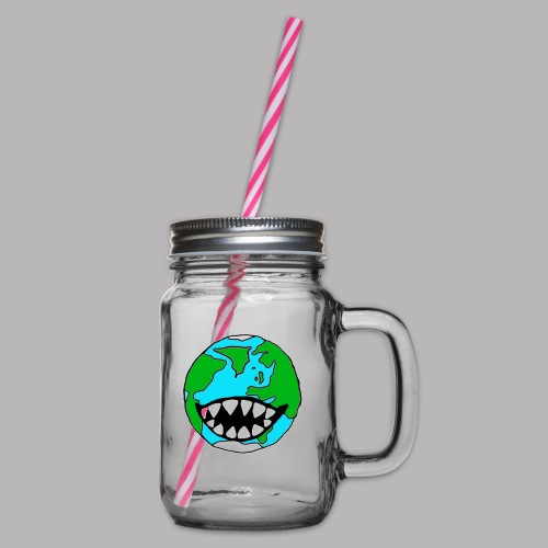 Hungry Planet - Glass jar with handle and screw cap