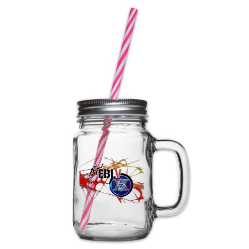 FUSION LOGOS 2 - Glass jar with handle and screw cap