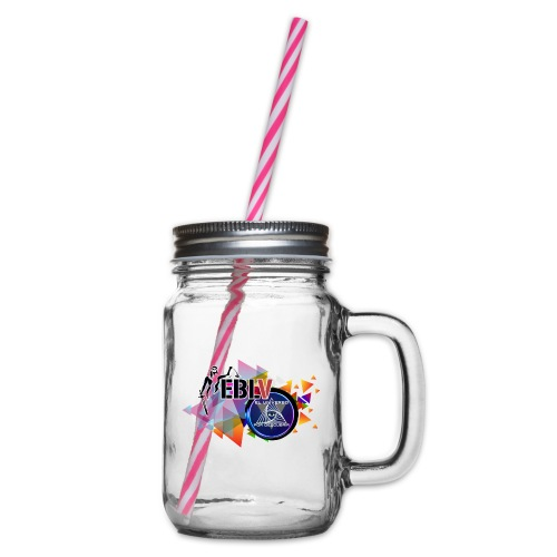 LOGOS - Glass jar with handle and screw cap