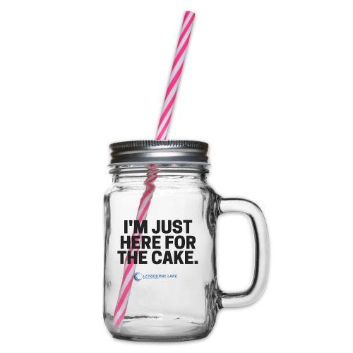 Cake Mug - Glass jar with handle and screw cap