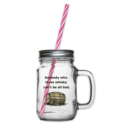 Whiskey / whiskey keg gift idea - Glass jar with handle and screw cap