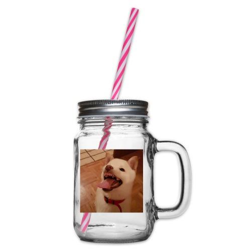 Mein Hund xD - Henkelglas mit Schraubdeckel