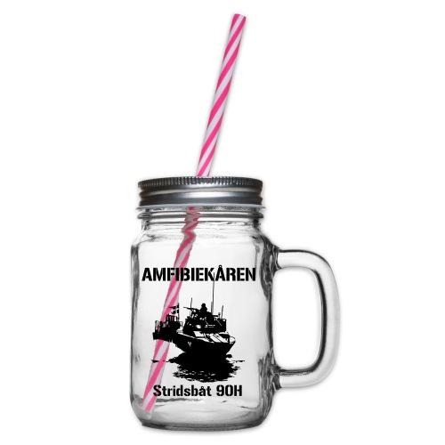 Amfibiekåren - Stridsbåt 90H - Glas med handtag och skruvlock