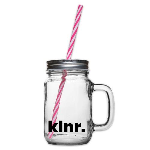 klnr. Design - Henkelglas mit Schraubdeckel
