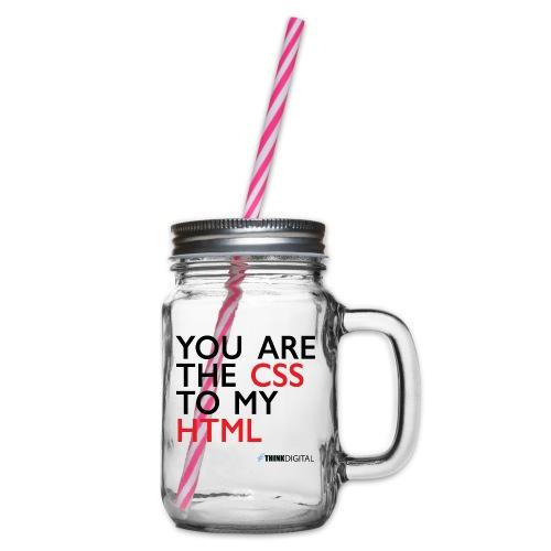 You are the CSS to my HTML - Boccale con coperchio avvitabile