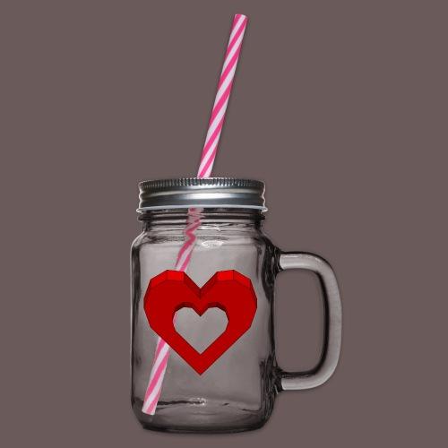 Heart Illusion - Drikkekrus med skruelåg