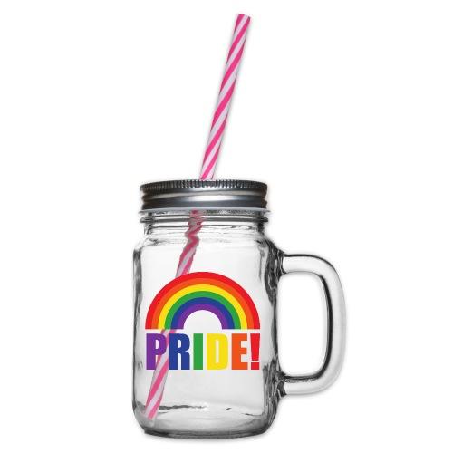 Pride Regenbogen   LGBT   Geschenkidee - Henkelglas mit Schraubdeckel