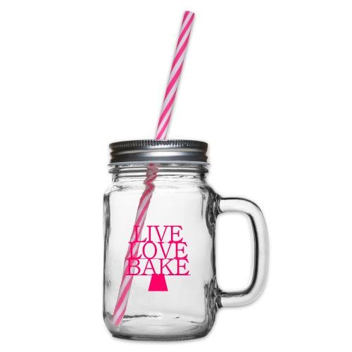 LiveLoveBake ekstra stor - Drikkekrus med skruelåg