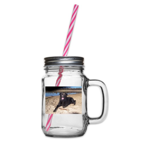 Käseköter - Glass jar with handle and screw cap