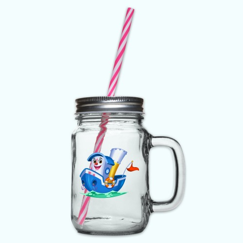 Little Boat Arthur Collection - Glass jar with handle and screw cap