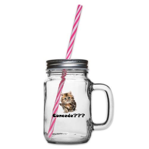 Concede kitty - Glass med hank og skrulokk